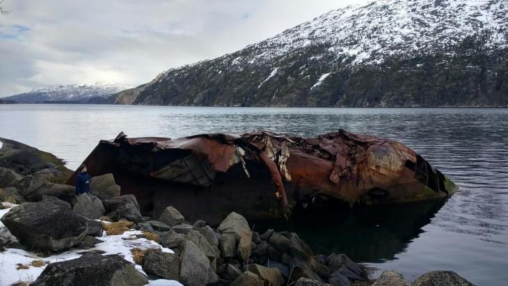 Vestige de la bataille de Narvik (1940) dans l'Ofotfjord - Nord Espaces