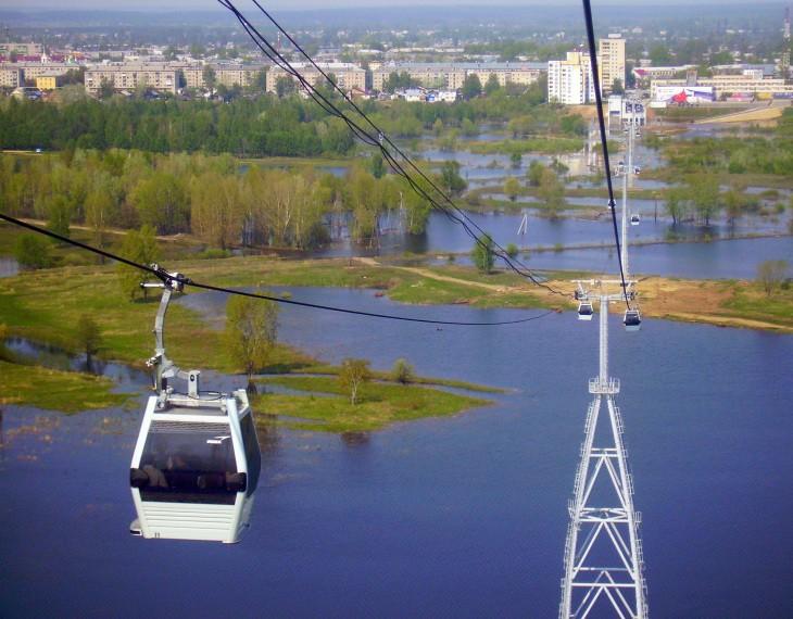 Télécabines à Nijni-Novgorod, Russie - Nord Espaces