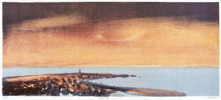Peinture d'Ørnulf Opdahl, phare d'Alnes, Norvège - Nord Espaces