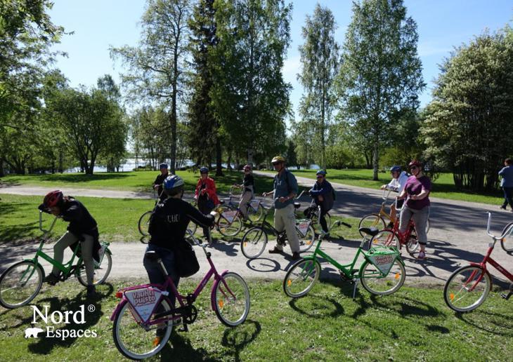 Vélo à Oulu, Ostrobotnie du Nord, Finlande