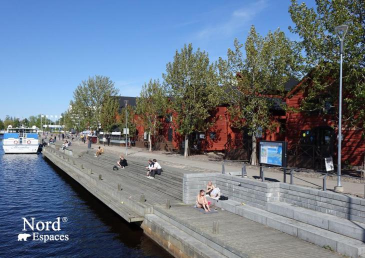 Port de plaisance d'Oulu, Ostrobotnie du Nord, Finlande