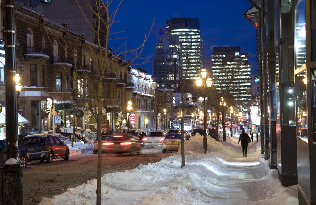 Rue Crescent à Montréal, Québec
