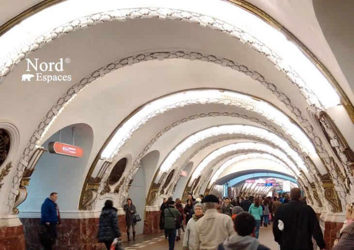 Station du métro Vosstania à Saint-Pétersbourg