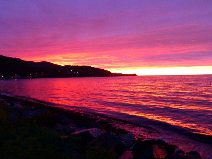Coucher de soleil sur le Saint-Laurent, Gaspésie, Québec, Canada - Nord Espaces