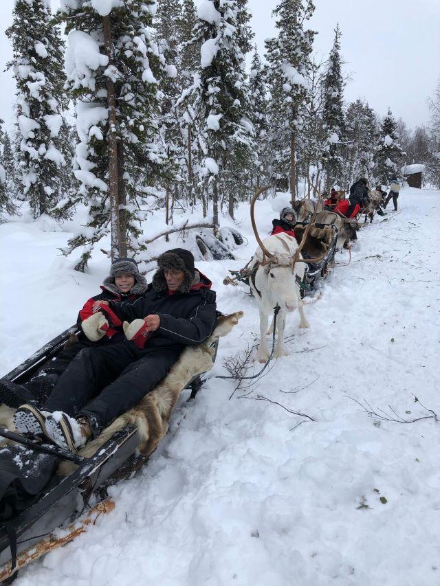 La Laponie en traîneau à renne, février 2021. Photo Brigitte B.