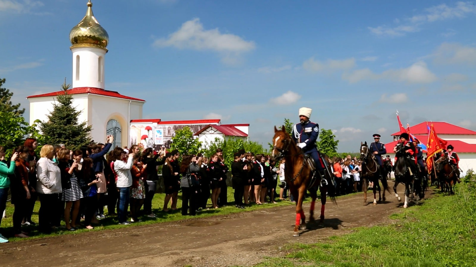 Défilé de Cosaques à Rostov sur le Don, Russie