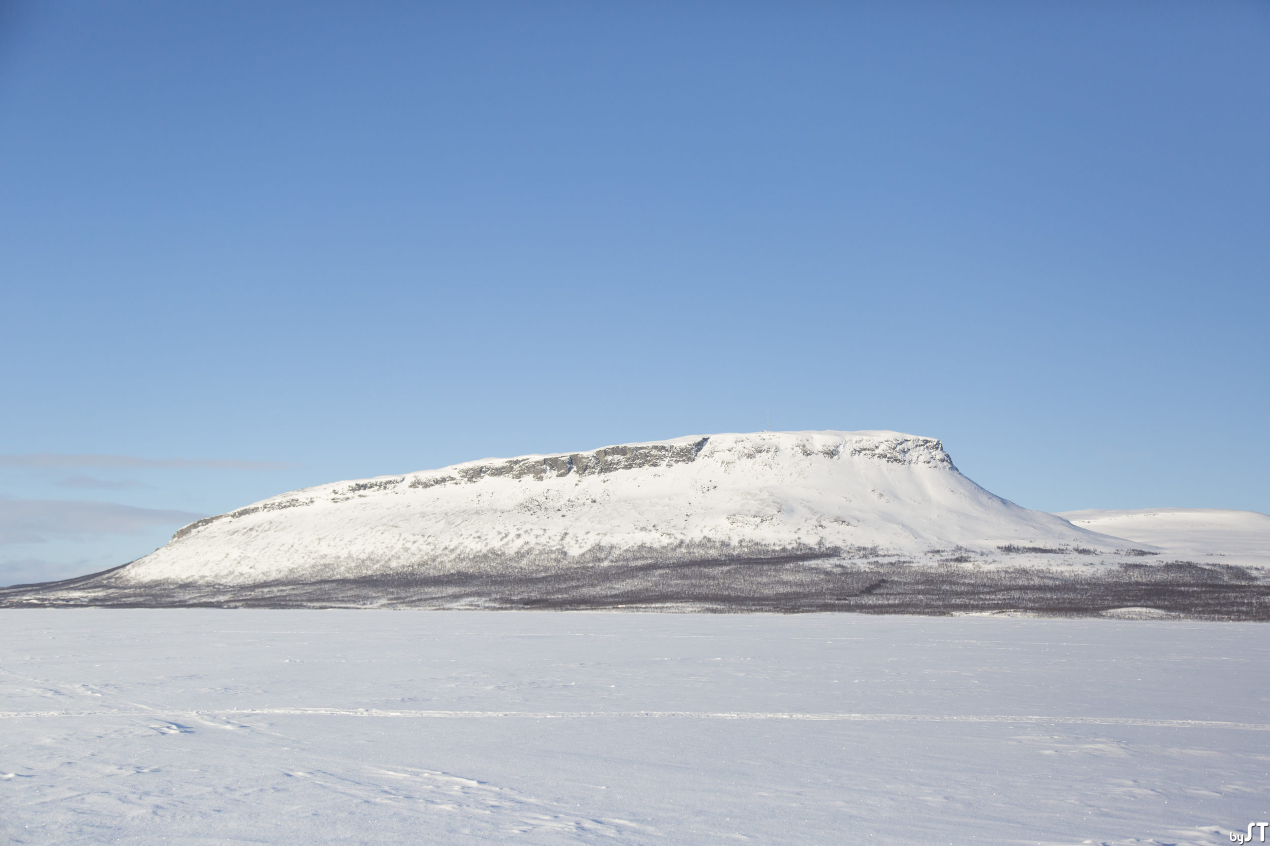 Le mont Saana (1 029 m) en Finlande