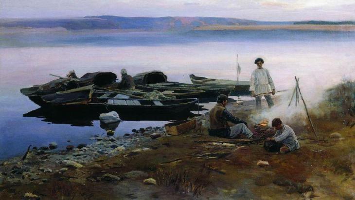 Au bord de la Volga,Alexeï Stepanov, 1897, musée d'art de Samara