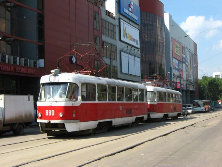 Tramway à Samara, Russie