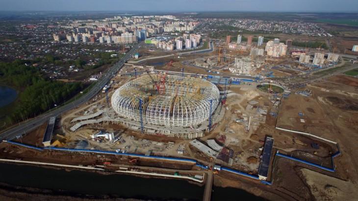 Stade de Mordovie à Saransk en construction, Russie