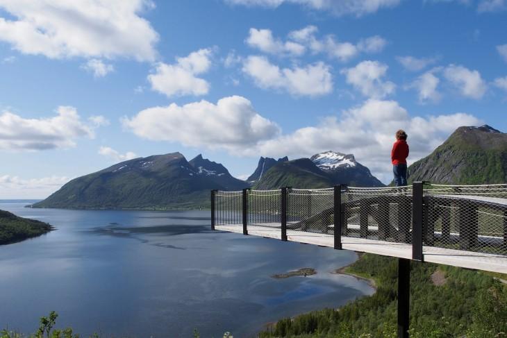 Vue sur l'île de Senja en Norvège