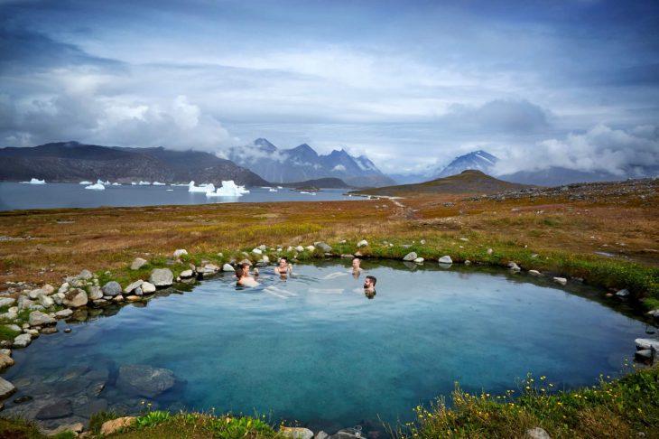 Sources chaudes d'Uunartoq au Groenland