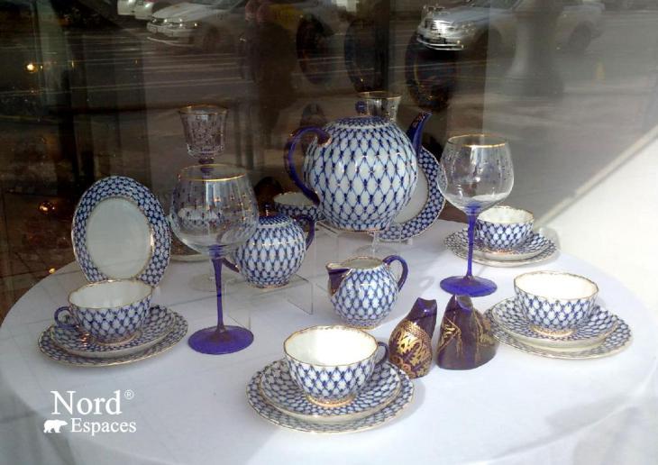 Souvenirs russes, porcelaine Lomonosov