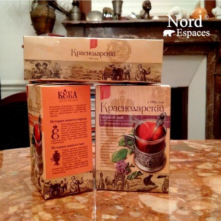 Souvenirs russes, thé de Krasnodar