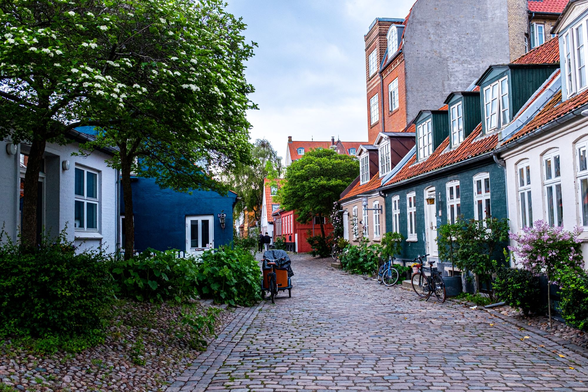 La rue Møllestien à Aarhus par Steffen Muldbjerg