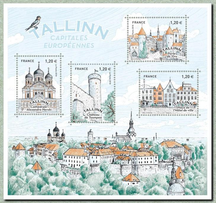 Capitales européennes - Tallinn, La Poste, 2018