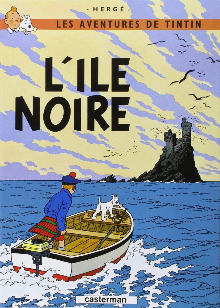 L'Île Noire, Hergé, 1938 (noir et blanc), 1943 (couleur)