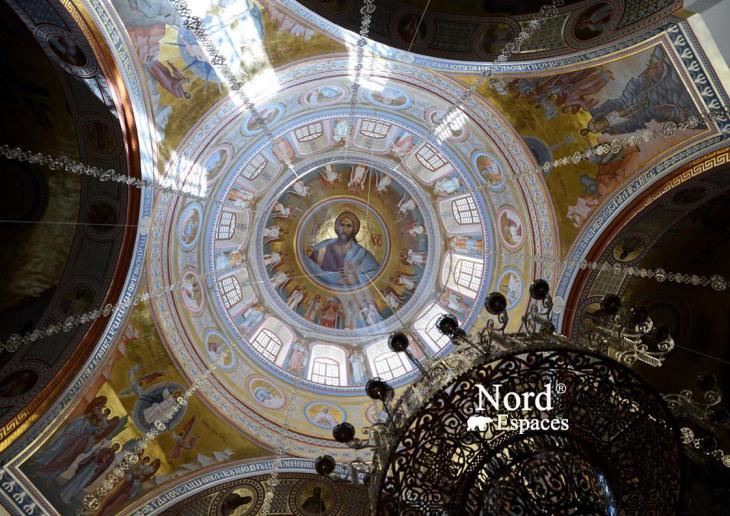 Le dôme d'une cathédrale orthodoxe russe à Saint-Pétersbourg