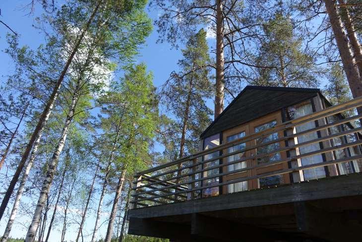 Chambre dans la forêt boréale près de Kokkola, Finlande - Nord Espaces