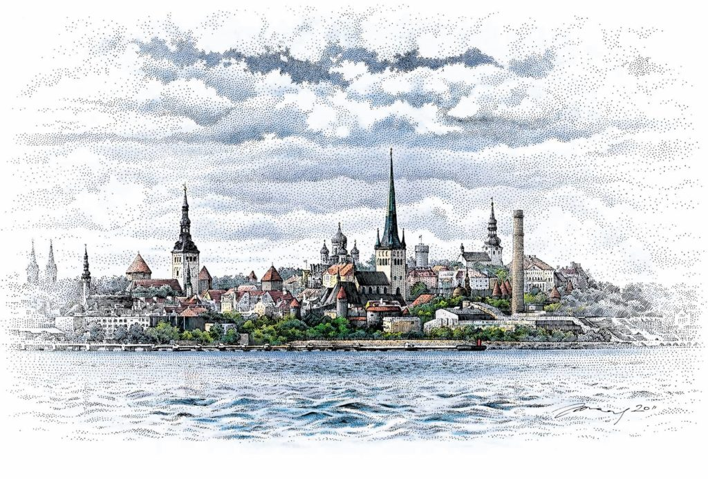 La vieille ville de Tallinn par Saar Graafika