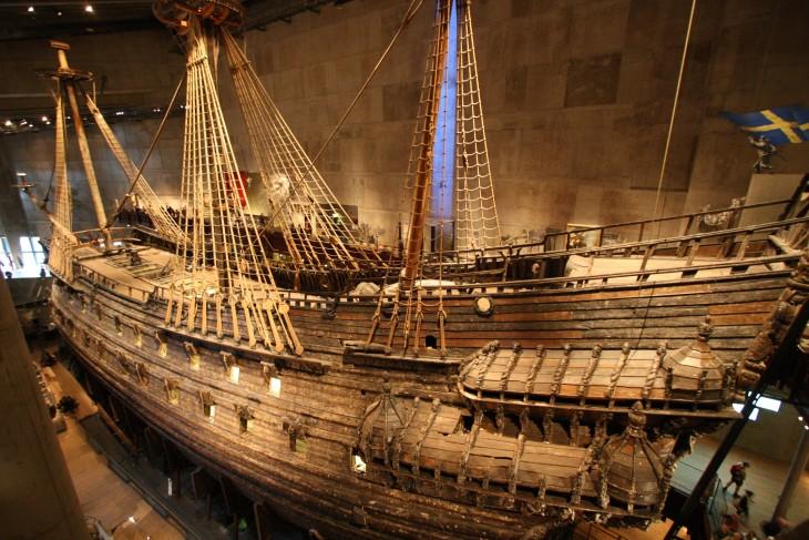 Le majestueux Vasa, dans le musée du même nom