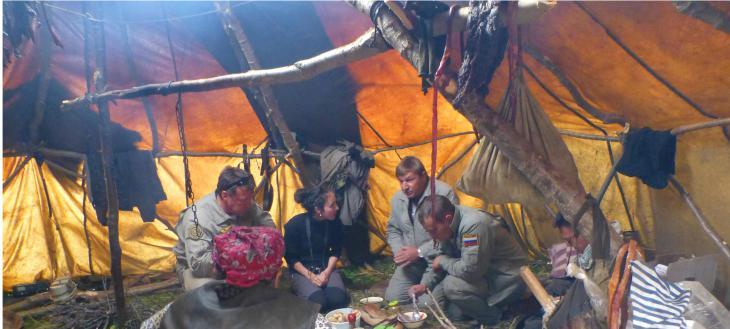 Déjeuner avec des éleveurs au Kamtchatka, Russie