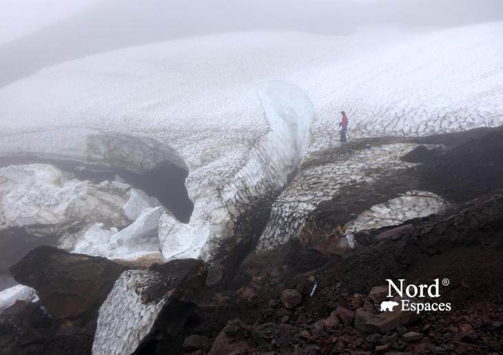 Sur le glacier du volcan Moutnovsky - Nord Espaces