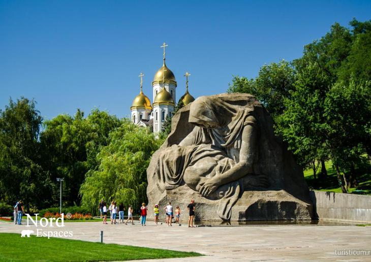 Monument à la mère en deuil de son fils assassiné, un soldat dans la guerre, Volgograd