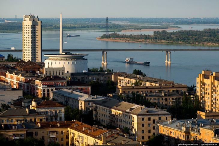 La Volga à Volgograd, Russie