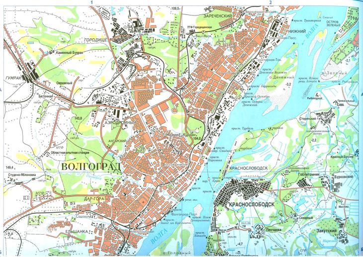 Plan de Volgograd, Russie