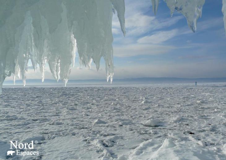 Des paysages hivernaux du lac Baïkal