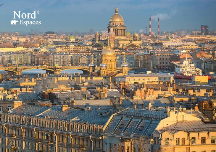 Saint-Pétersbourg, vue panoramique sur la ville en hiver