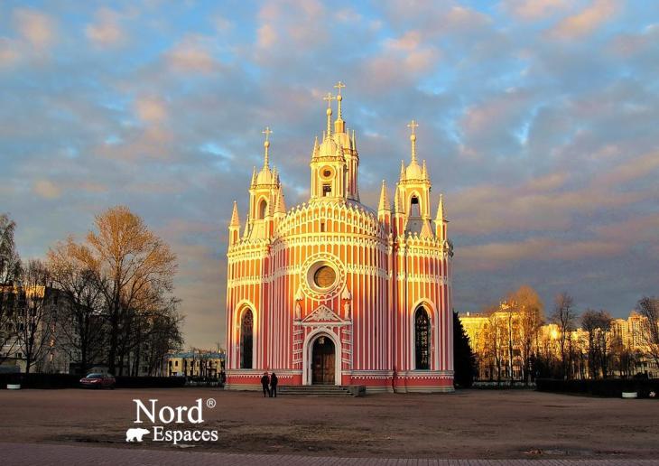 Extraordinaire église Tchesmenskaya à Saint-Pétersbourg