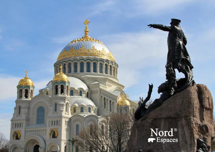 Sur l'île de Kotline, à Kronstadt, cathédrale des marins