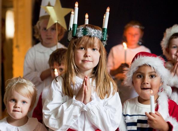 La Sainte-Lucie est célébrée le 13 décembre en Suède